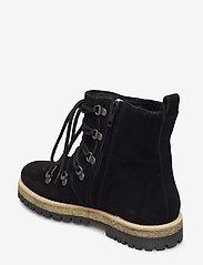 Boots - flat - with laces - 1163/2014 BLACK/BLACK LAMB WOO
