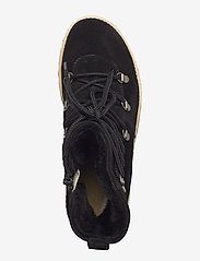 ANGULUS - Boots - flat - with laces - flat ankle boots - 1163/2014 black/black lamb woo - 3