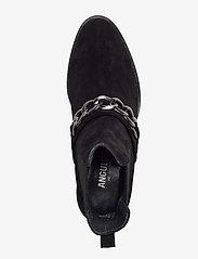 ANGULUS - Booties - flat - with elastic - platte enkellaarsjes - 1163/019 black/black - 3