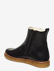 ANGULUS - Boots - flat - with zipper - flache stiefeletten - 1604 black - 2