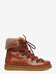 ANGULUS - Boots - flat - with laces - platte enkellaarsjes - 1838/2019 cognac/cognac lamb w - 1
