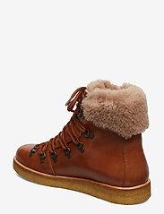 ANGULUS - Boots - flat - with laces - platte enkellaarsjes - 1838/2019 cognac/cognac lamb w - 2