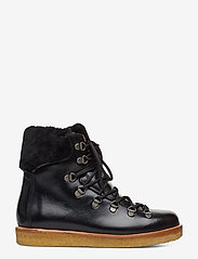 ANGULUS - Boots - flat - with laces - flat ankle boots - 1835/2014 black/black lambswoo - 1