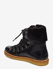 ANGULUS - Boots - flat - with laces - flat ankle boots - 1835/2014 black/black lambswoo - 2