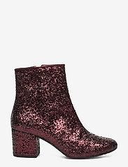 ANGULUS - Bootie - block heel - with zippe - talon haut - 2642/2195 bordeaux glitter/bor - 1