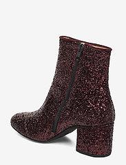 ANGULUS - Bootie - block heel - with zippe - talon haut - 2642/2195 bordeaux glitter/bor - 2