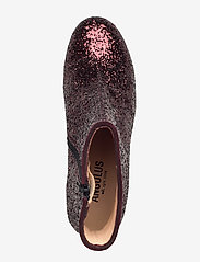 ANGULUS - Bootie - block heel - with zippe - talon haut - 2642/2195 bordeaux glitter/bor - 3