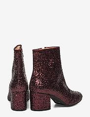 ANGULUS - Bootie - block heel - with zippe - talon haut - 2642/2195 bordeaux glitter/bor - 4