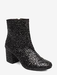 ANGULUS - Bootie - block heel - with zippe - heeled ankle boots - 2486/1163 black glit/black - 0