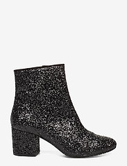 ANGULUS - Bootie - block heel - with zippe - enkellaarsjes met hak - 2486/1163 black glit/black - 1