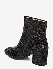 ANGULUS - Bootie - block heel - with zippe - enkellaarsjes met hak - 2486/1163 black glit/black - 2