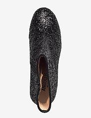 ANGULUS - Bootie - block heel - with zippe - enkellaarsjes met hak - 2486/1163 black glit/black - 3