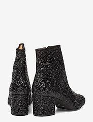 ANGULUS - Bootie - block heel - with zippe - enkellaarsjes met hak - 2486/1163 black glit/black - 4