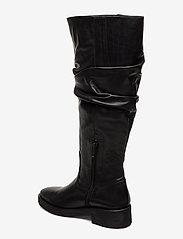 ANGULUS - Booties - flat - with zipper - bottes hautes - 1604 black - 2
