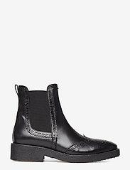 ANGULUS - Booties - flat - with elastic - chelsea støvler - 1835/001 black/black - 1