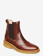 ANGULUS - Booties - flat - with elastic - chelsea støvler - 1837/002 brown/dark brown - 0