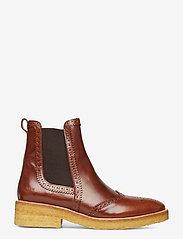ANGULUS - Booties - flat - with elastic - chelsea støvler - 1837/002 brown/dark brown - 1