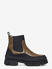 ANGULUS - Boots - flat - flade ankelstøvler - 1321/1841/019  black/d. oliven - 1