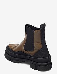 ANGULUS - Boots - flat - flade ankelstøvler - 1321/1841/019  black/d. oliven - 2
