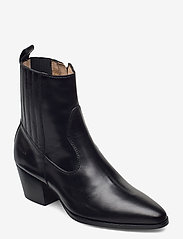 ANGULUS - Booties - Block heel - with elas - stiefeletten mit absatz - 1835/001 black/black - 0