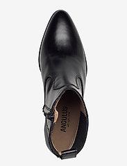 ANGULUS - Booties - Block heel - with elas - stiefeletten mit absatz - 1835/001 black/black - 3