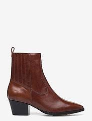 ANGULUS - Booties - Block heel - with elas - stiefeletten mit absatz - 1837/002 brown/dark brown - 1