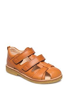 Sandal with velcro closure - 2621 COGNAC