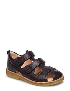 Sandal with velcro closure - 1660 DARK BROWN