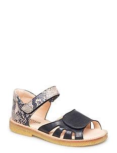 Sandals - flat - 1604/2481 BLACK/GREY SNAKE