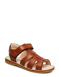 Sandals - flat - open toe - op - 1431 COGNAC