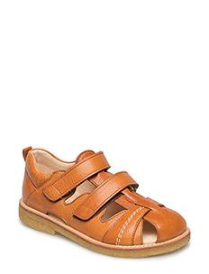 Sandal with 2 velcro closures - 2621 COGNAC