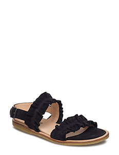 Sandals - flat - open toe - op - 1163 BLACK