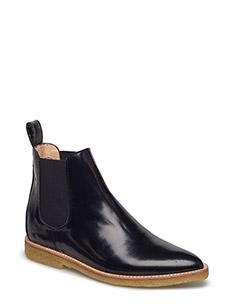 Booties - flat - with elastic - 1400/001 BLACK/BLACK