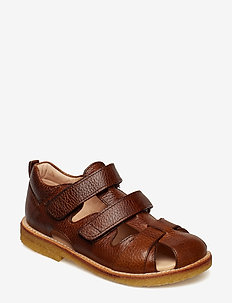 Sandal with velcro closure - 2509 COGNAC