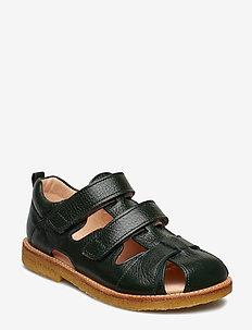 Sandal with velcro closure - 2558 DARK GREEN