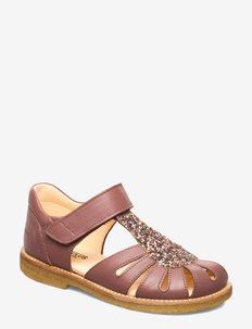 Sandals - flat - closed toe -  - 1524/2488 PLUM/MULTI GLITTER