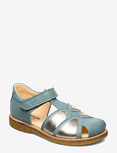 Sandals - flat - closed toe -  - 2640/1325 MINT BLUE/CHAMPAGNE