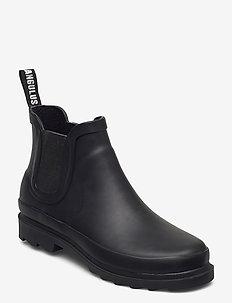 Rain boots - low with elastic - tasapohjaiset nilkkurit - 0001 black