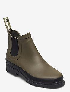 Rain boots - low with elastic - tasapohjaiset nilkkurit - 0002 olive