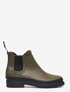 Rain boots - low with elastic - niski obcas - 0002 olive