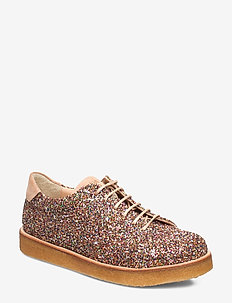 Shoes - flat - with lace - 2488/1149 MULTI GLITTER/SAND