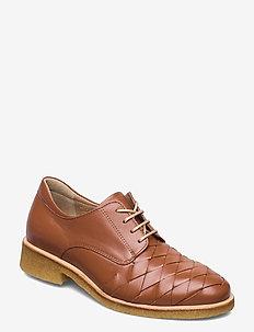 Shoes - flat - snörskor - 1431 cognac