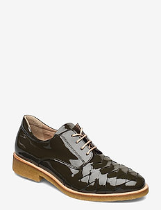 Shoes - flat - snörskor - 2345 olive