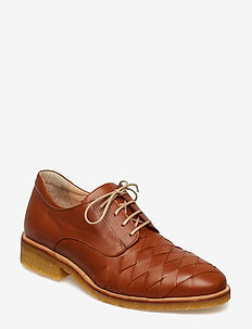 Shoes - flat - snøresko - 1431 cognac