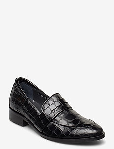 Loafer - flat - loaferit - 1674 black croco