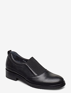 Shoes - flat - with elastic - loaferit - 1604/019 black/black