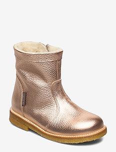 Booties - flat - with zipper - winterlaarzen - 1537/1433 l.copper/makeup