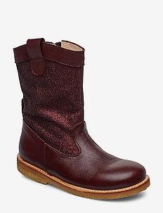 Boots - flat - winterlaarzen - 2544/2644 bordeaux/b. glitter