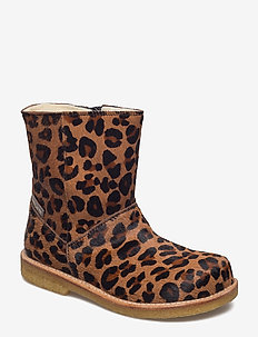 2045 - winter boots - 1110/1604 leopard pony/black