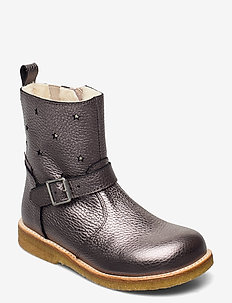 Boots - flat - with zipper - stiefel - 1538/1325/2202/010 mauve s./c/